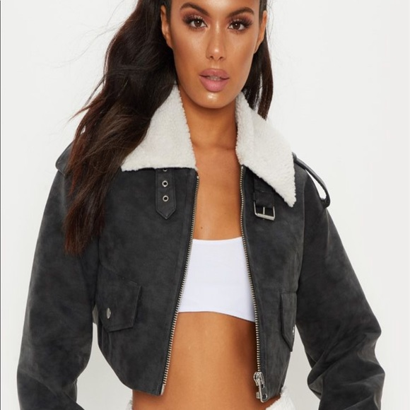 a few days away newest collection online store Cropped aviator jacket NWT
